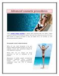 Advanced cosmetic procedures PowerPoint PPT Presentation