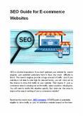 SEO Guide for E-commerce Websites PowerPoint PPT Presentation