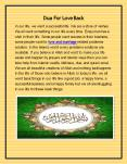 Powerful Dua For Love Marriage In 3 Days PowerPoint PPT Presentation