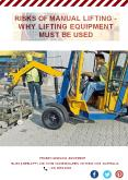 Risks of Manual Lifting - Why Lifting Equipment Must Be Used PowerPoint PPT Presentation