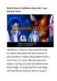 World famous Vashikaran Specialist Astrologer PowerPoint PPT Presentation