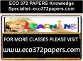 ECO 372 PAPERS Knowledge Specialist--eco372papers.com PowerPoint PPT Presentation