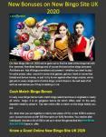 New Bonuses on New Bingo Site UK 2020 PowerPoint PPT Presentation