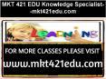 MKT 421 EDU Knowledge Specialist--mkt421edu.com PowerPoint PPT Presentation