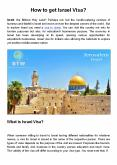 How to get Israel Visa? PowerPoint PPT Presentation