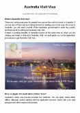 Australia Visit Visa PowerPoint PPT Presentation