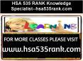 HSA 535 RANK Knowledge Specialist--hsa535rank.com PowerPoint PPT Presentation