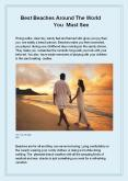 Best Beaches Around The World You Must See PowerPoint PPT Presentation