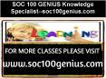 SOC 100 GENIUS Knowledge Specialist--soc100genius.com PowerPoint PPT Presentation