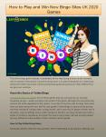 How to Play and Win New Bingo Sites UK 2020 Games PowerPoint PPT Presentation