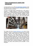 Types of Warehouses in Supply Chain Management PowerPoint PPT Presentation