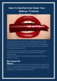 How To Disinfect And Clean Your Makeup Products Regularly? PowerPoint PPT Presentation