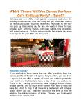 Which Theme Will You Choose For Your Kid's Birthday Party? - TORQ03 PowerPoint PPT Presentation