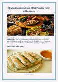24 Mouthwatering And Most Popular Foods In The World PowerPoint PPT Presentation