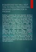8 Questions That Will Help You To Find A Professional Roofing Contractor In Phoenix PowerPoint PPT Presentation