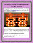Top 5 Ways To Decorate the Wedding Premise By Fairy Lights Decoration PowerPoint PPT Presentation