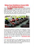 Bring Your Workforce Closer With A Go Karting Session! - TORQ03 PowerPoint PPT Presentation