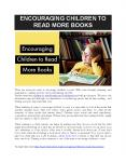 ENCOURAGING CHILDREN TO READ MORE BOOKS PowerPoint PPT Presentation