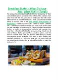Breakfast Buffet – What To Have And What Not - TORQ03 PowerPoint PPT Presentation