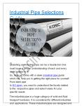 Industrial Pipe Selections Guide PowerPoint PPT Presentation