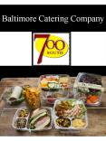 Baltimore Catering Company PowerPoint PPT Presentation