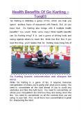 Health Benefits Of Go Karting - TORQ03 PowerPoint PPT Presentation