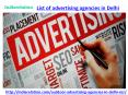Find us in best list of advertising agencies in delhi PowerPoint PPT Presentation