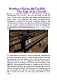 Bowling – Picking Up The Ball The Right Way - Arohi Eye Hospital PowerPoint PPT Presentation