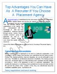 Top Advantages You Can Have As A Recruiter If You Choose A Placement Agency PowerPoint PPT Presentation