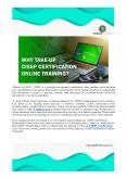 Why Take Up CISSP Certification Online Training? PowerPoint PPT Presentation