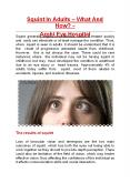 Squint In Adults – What And How? - Arohi Eye Hospital PowerPoint PPT Presentation
