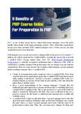 5 Benefits of PMP Course Online For Preparation in PMP PowerPoint PPT Presentation