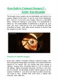 How Safe Is Cataract Surgery? - Arohi Eye Hospital PowerPoint PPT Presentation