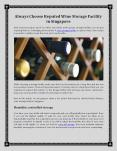 Get the Best Wine Storage Facility in Singapore from Provino Logistics PowerPoint PPT Presentation