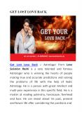Get Your Lost Love Back PowerPoint PPT Presentation