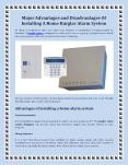 Major Advantages and Disadvantages Of Installing A Home Burglar Alarm System PowerPoint PPT Presentation