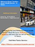 Melbourne Airport Transfers - Airport Shuttle Service - 13 Taxico PowerPoint PPT Presentation