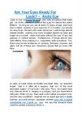 Are Your Eyes Ready For Lasik? - Arohi Eye Hospital PowerPoint PPT Presentation