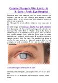 Cataract Surgery After Lasik – Is It Safe? - Arohi Eye Hospital (1) PowerPoint PPT Presentation