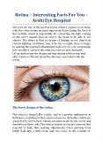 Retina – Interesting Facts For You - Arohi Eye Hospital PowerPoint PPT Presentation