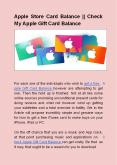 Apple Store Card Balance || Check My Apple Gift Card Balance