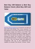 Best Buy Gift Balance || Best Buy Balance Check || Best Buy Gift Card Value