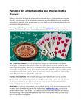 Wining Tips of Satta Matka and Kalyan Matka Games PowerPoint PPT Presentation