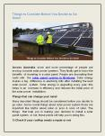 Things to Consider Before You Decide to Go Solar! PowerPoint PPT Presentation