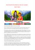Most Powerful Shiva Mantra to Get Lost Love Back - Naksh Shastri PowerPoint PPT Presentation