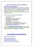 Study Visa and Popular Universities in Singapore PowerPoint PPT Presentation
