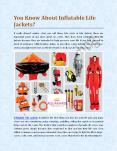 You Know About Inflatable Life Jackets? PowerPoint PPT Presentation