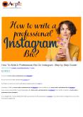 How To Write A Professional Bio On Instagram: Step by Step Guide! PowerPoint PPT Presentation