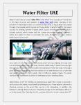 Water Filter UAE PowerPoint PPT Presentation