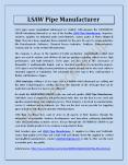 LSAW Pipe Manufacturer PowerPoint PPT Presentation